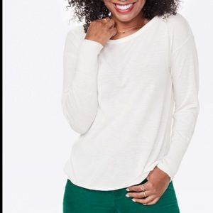NWT NYDJ Boatneck Sweater with Button Back